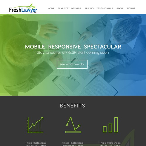 Freshlawyers web design