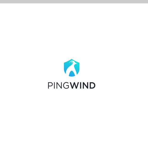 Modern, abstract logo for PingWind Inc.