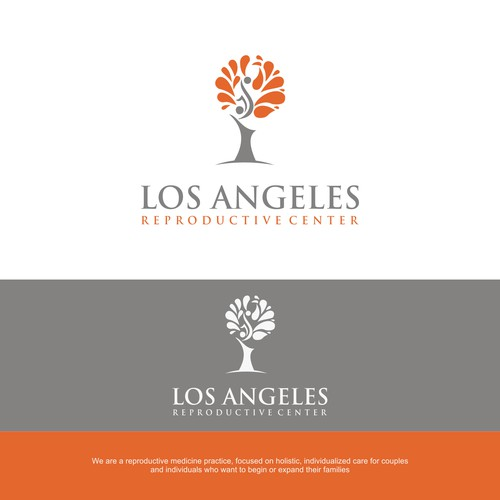 Create a logo for a boutique fertility practice in Southern California