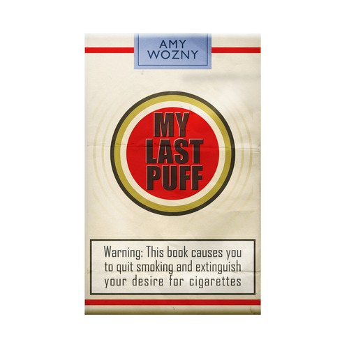"""My Last Puff"" book cover design"