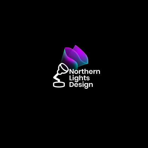 Colorful Northern Lights Logo