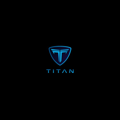 futuristic logo for TITAN
