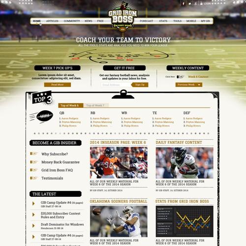 Fantasy football website