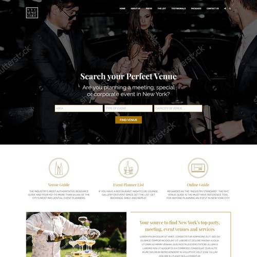 NYC Venue website Restyling