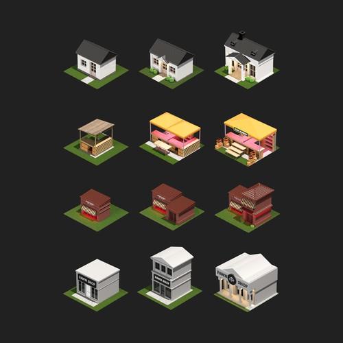3d Modeling Building Game Assets