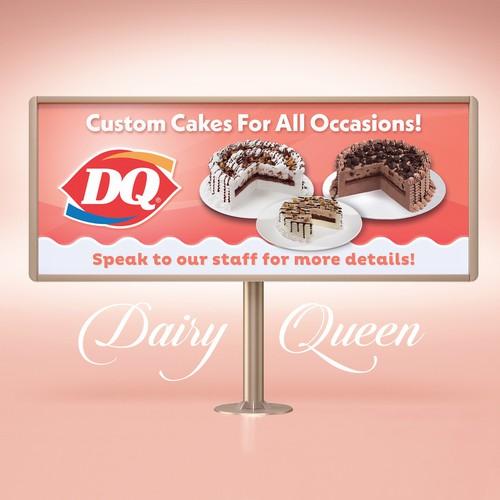 Dairy Queen Custom Cakes Banner