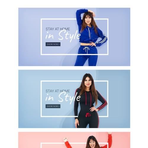 Women's fashion web banner (3 versions)