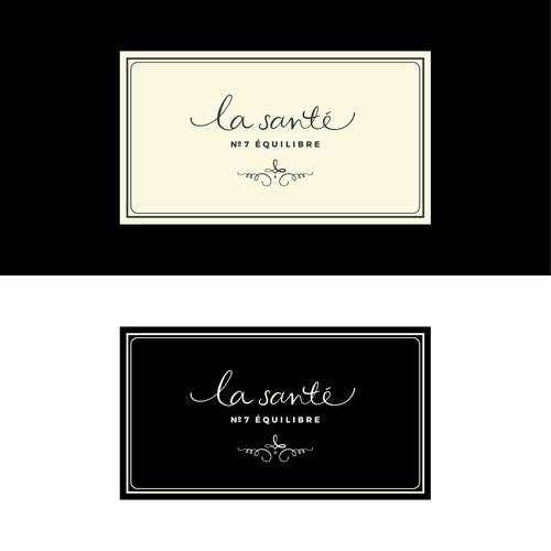 A delicate and elegant logo for 'la santé', a wellness candle range.