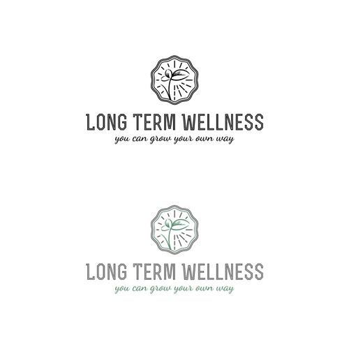Long Term Wellness logo for a nutrition and health coach.