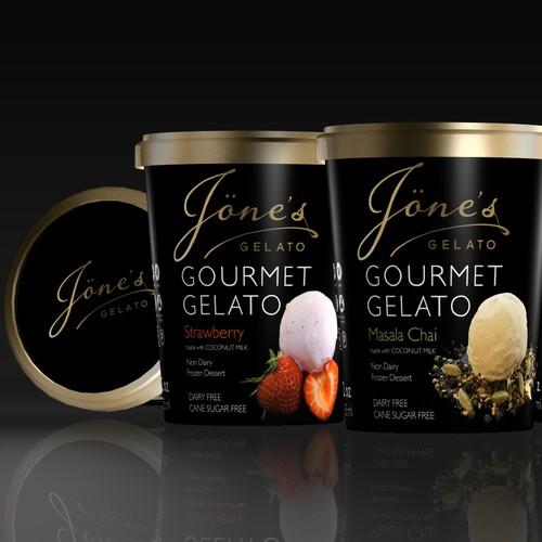 Gelato label design