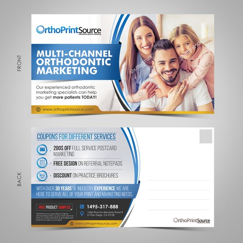 Professional post card design for OrthoPrintSource