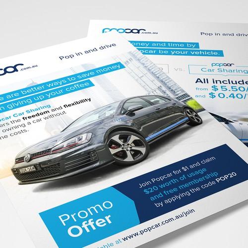 PopCar Flyer Design