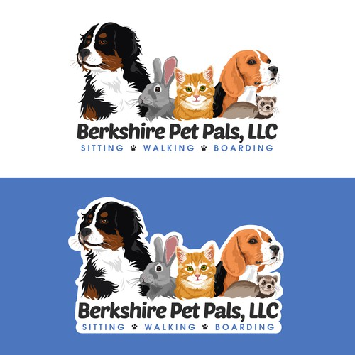 Logo / Website header for Berkshire Pet Pals, LLC