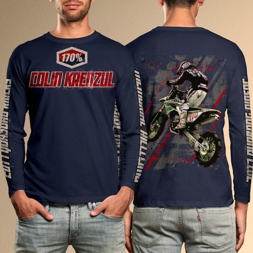 Motocross Design for Memorial T-shirt
