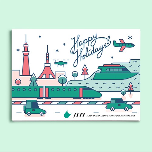 Holiday Postcard Design for JITI USA