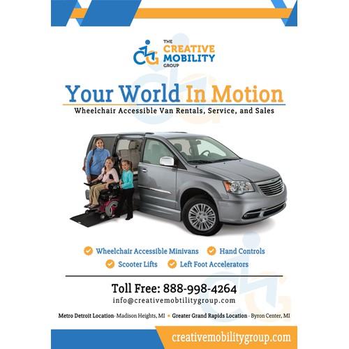 Create an advertisement for a wheelchair accessible minivan!