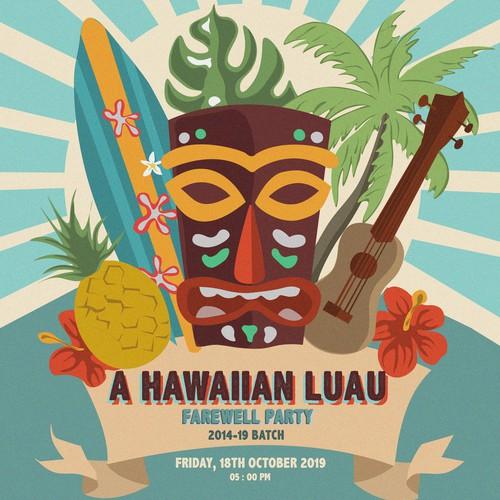 A Hawaiian Luau poster design