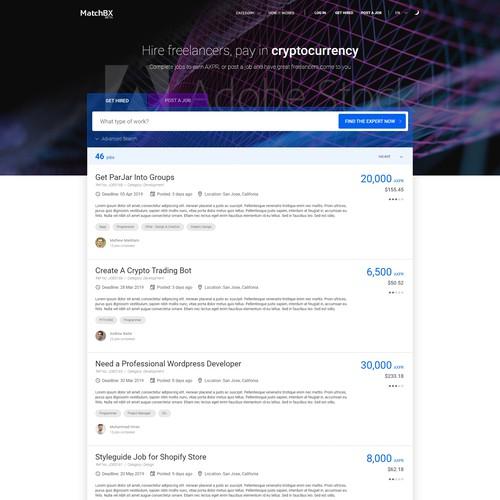 Recruiter webpage - Blockchain tech