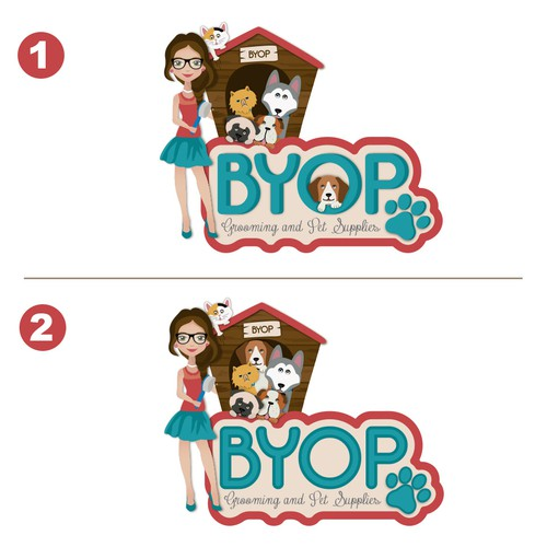 BYOP grooming and pet supplies Logo