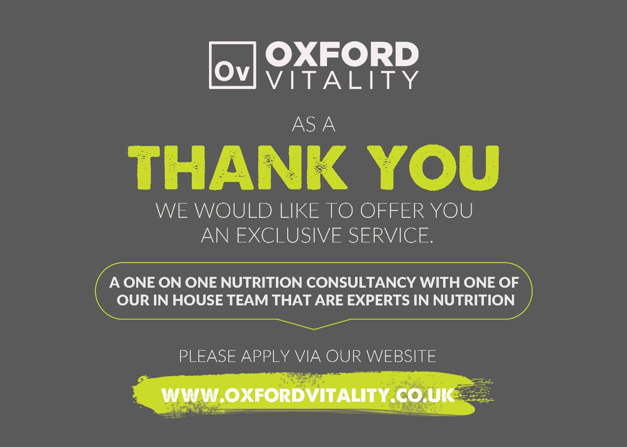 Company Flyer for Brand New Nutrition Service