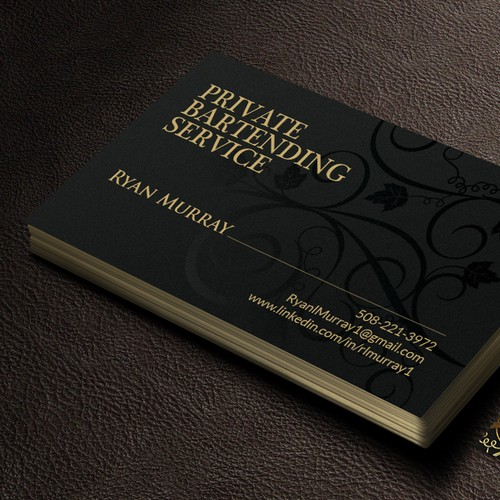 Spot UV Print Business Card.