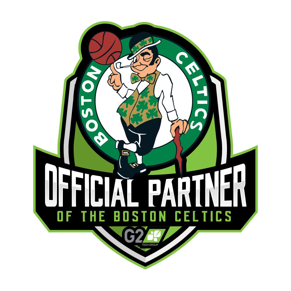 Sponsorship logo for tech company/pro sports team