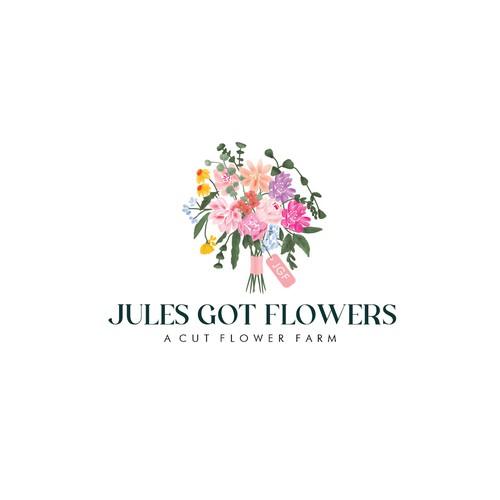 Logo concept for flower farm
