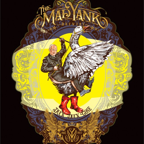 Mad Yank craft beer label
