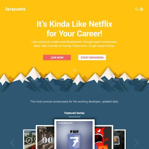 Laracasts Website Redesign