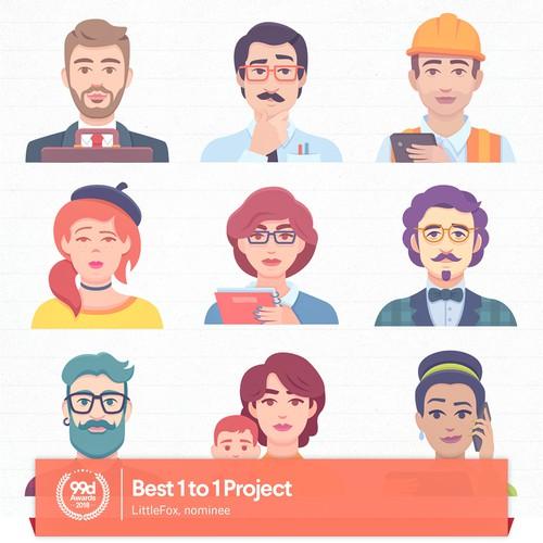 Game Avatars Illustration