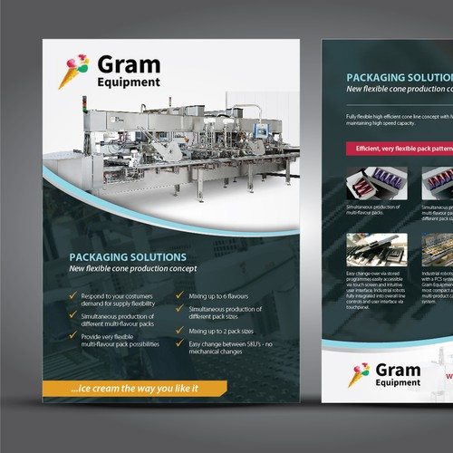 Ice cream equipment manufacturer need A4 leaflet