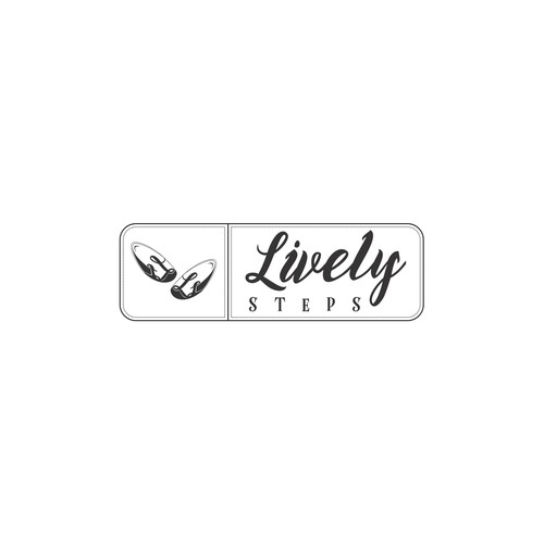 Logo concept for a baby shoes