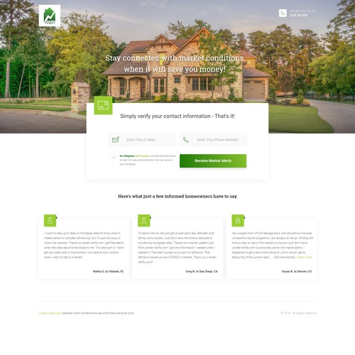 Landingpage Lead Form - Real Estate