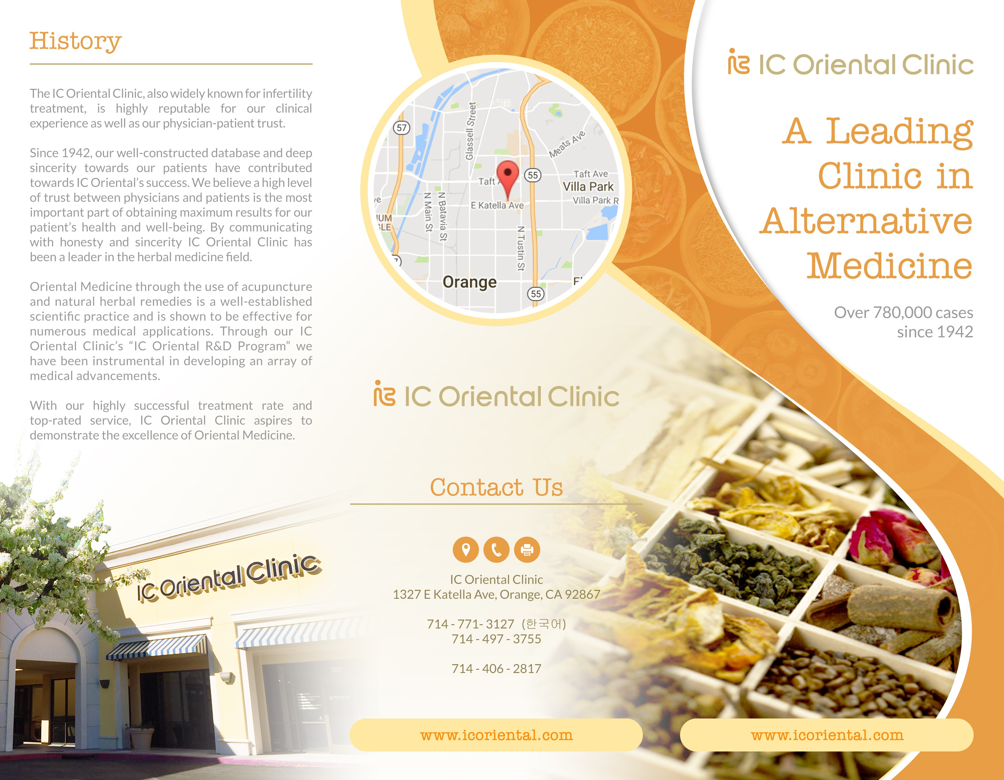 Create a Tri-fold brochure for infertility clinic