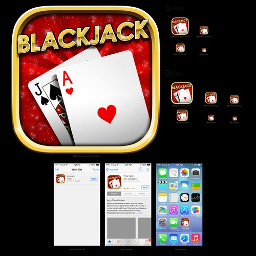 Icon for black jack game app