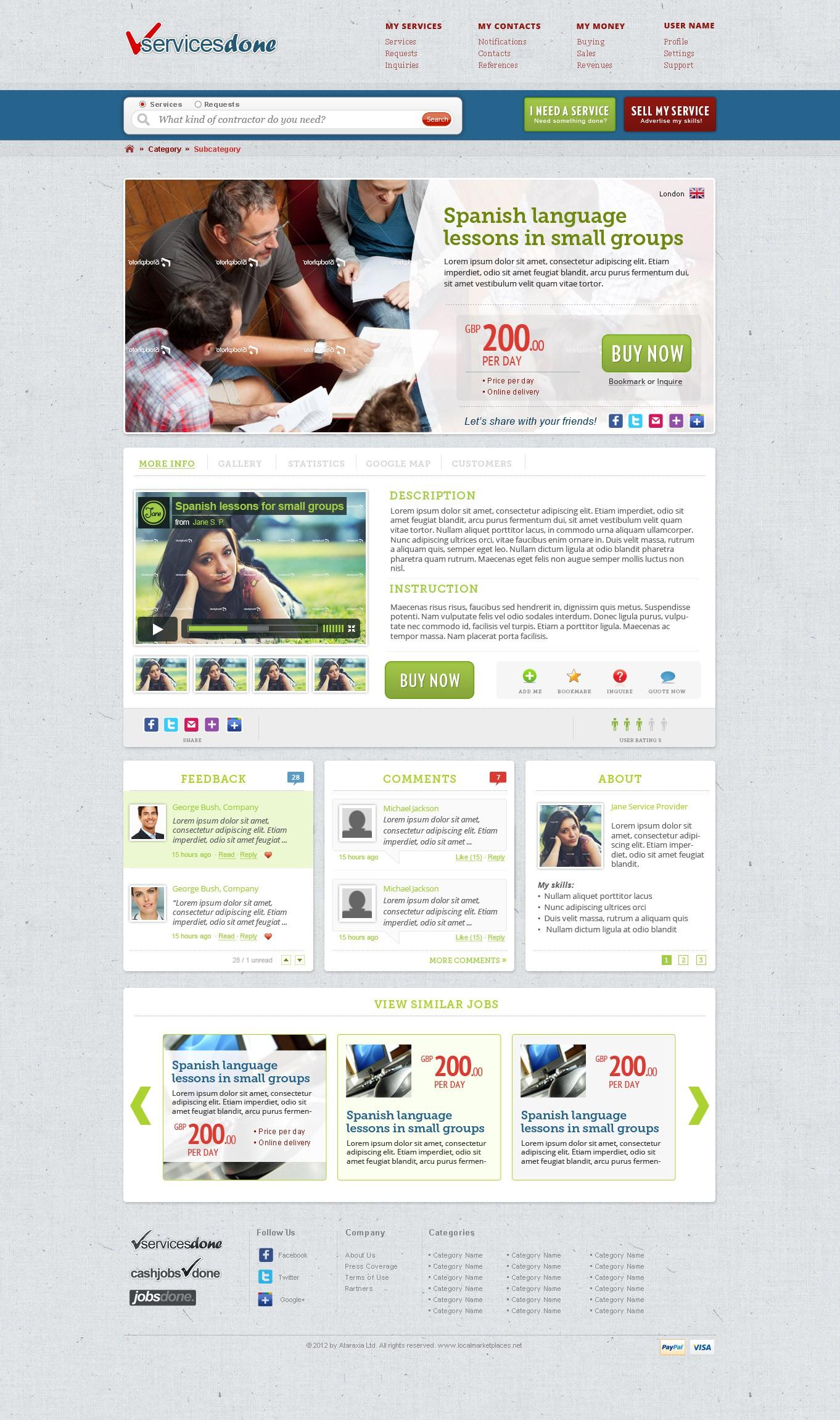 Create a web 2.0 social commerce marketplace design: be creative!