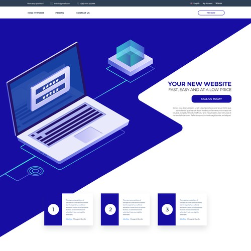 web-design : home-page