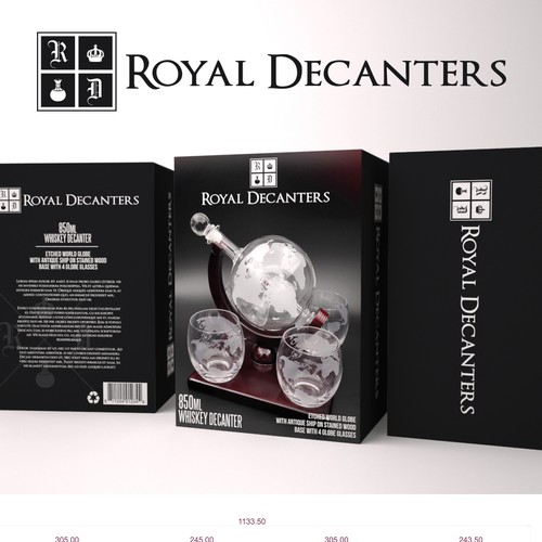 Product Packaging for Royal Decanters
