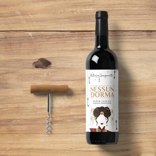 Label for Nessun Dorma Wine