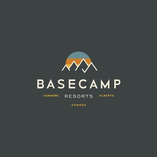 Modern mountain logo for boutique hotel