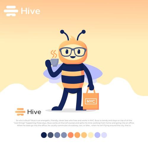 Hive Bee Mascot