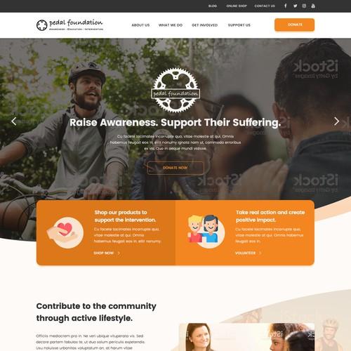 Web design for a health awareness foundation
