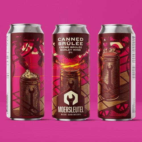 Canned Brulee Beer Label
