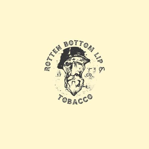 Logo concept for Rotten bottom lip & tobacco co.