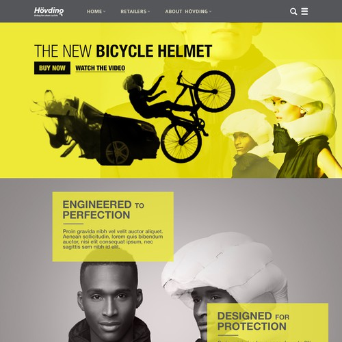 Web design for Hovding