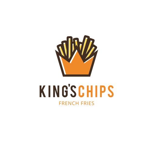 King's Chips Logo Design