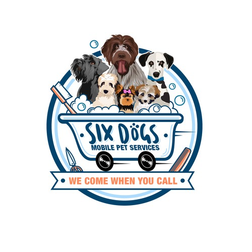 animal logo for Six Dogs - Mobile Pet Services