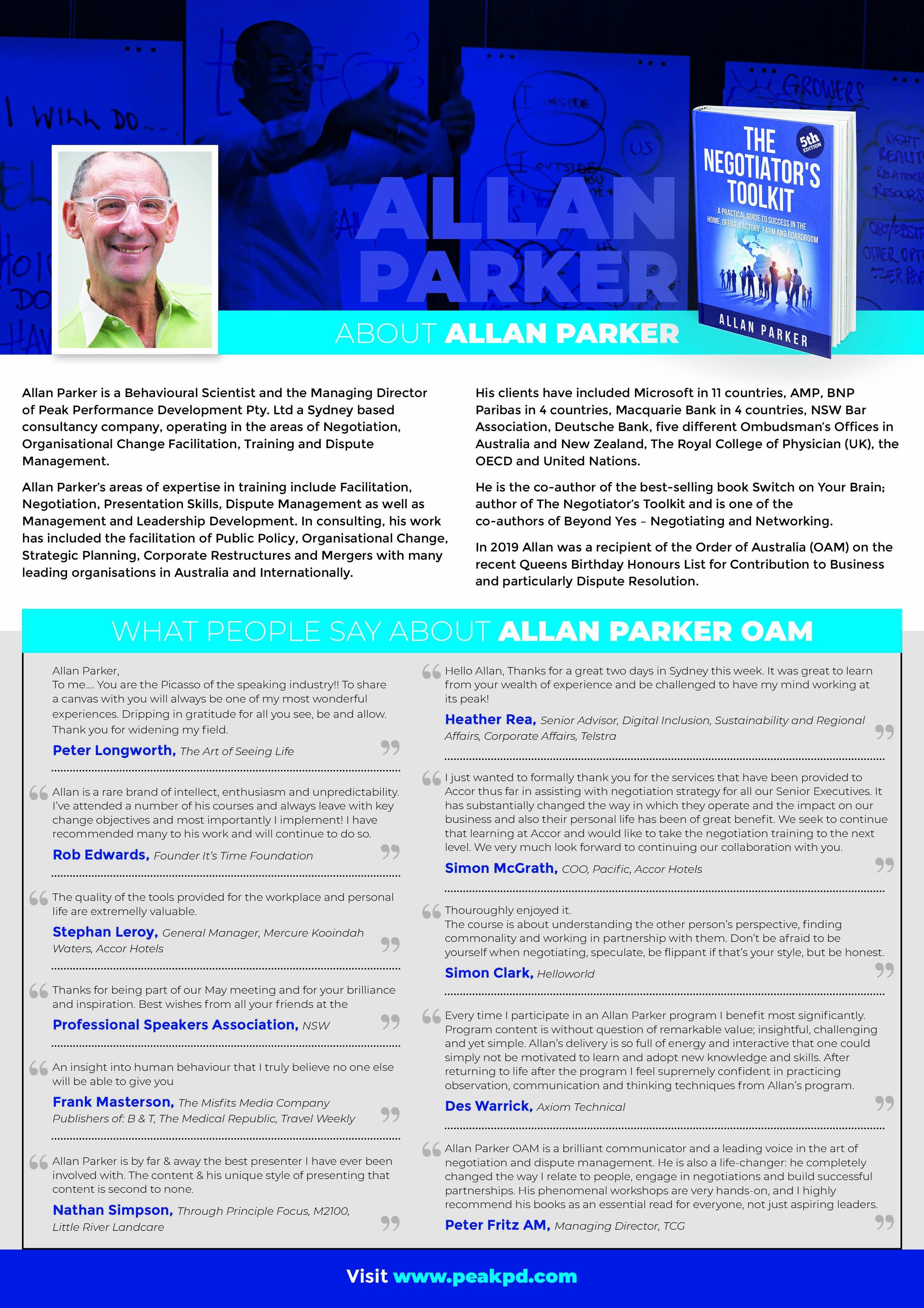 Allan Parkers Negotiation & Leadership Program