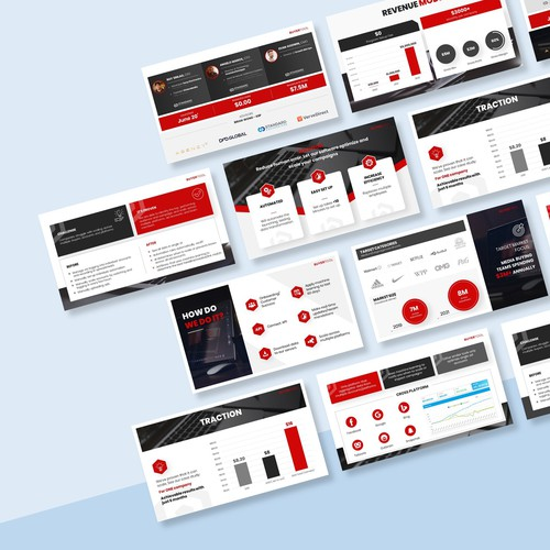 Design a modern PowerPoint template for an exciting new financial services company