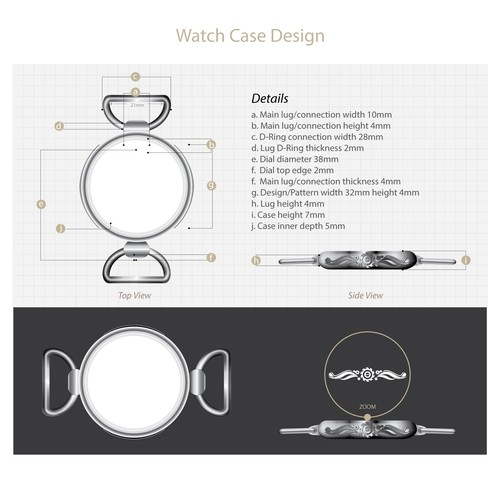Edgy Retail Fashion Accessory Line Needs Your Help-Watch Casing Design